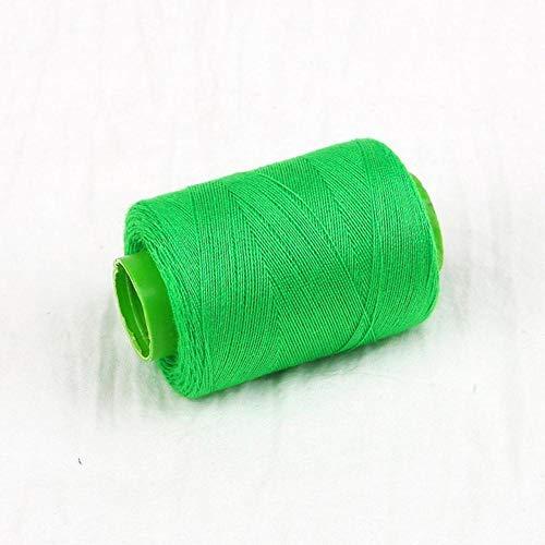 Mingi 1pc Tenacity Cotton Machine Hilos de Coser Bordados Hilo de Coser a Mano Craft Patch Inicio Suministros de Costura del Volante, Verde