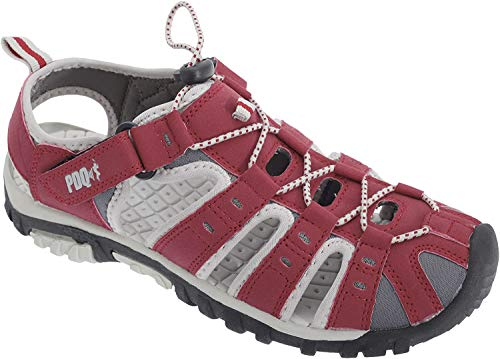 PDQ PDQ , Damen Sport- & Outdoor Sandalen, Rot, 36 EU / 3 UK