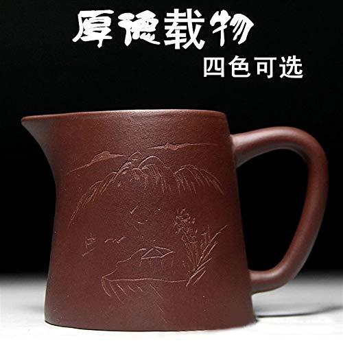 Teekannen Yixing Zisha Gongdao Cup Raw-Mine Clearing Cement Thick Depot 260ml Vier Farben Optional Teekanne Porzellan (Color : Purple)