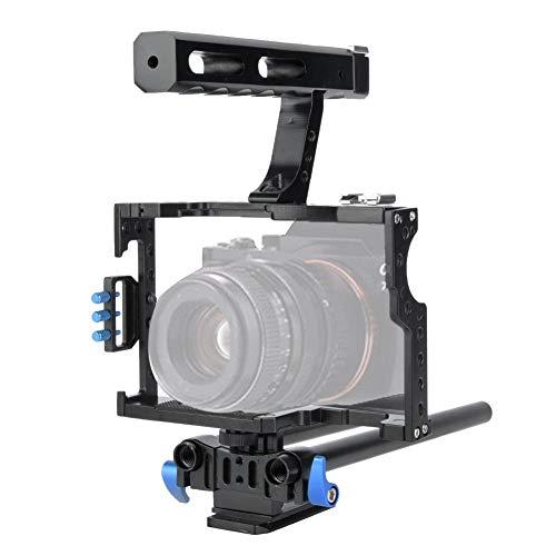 VBESTLIFE Fotocamera Video Sostegni per Fotocamera DSLR Stabilizzatore Gabbia Kit Lega di Alluminio con Impugnatura Top Handle per Sony A6300, NEX6 /
