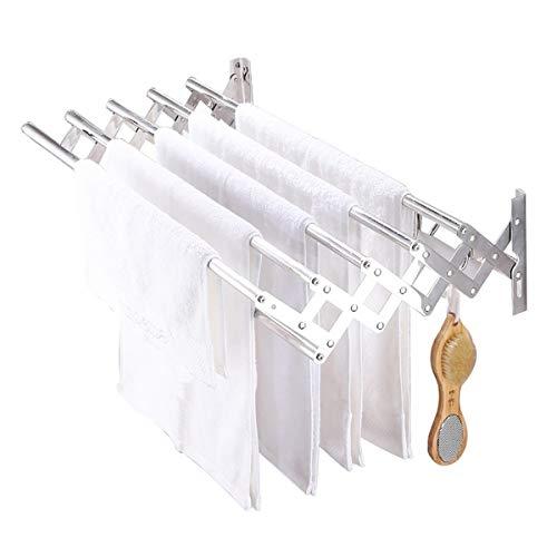 GXFWJD Toallero Baño Adhesivo Toallero Sin Taladro Toallero Barra Portarrollos para Papel Higiénico Aluminio Fijación por Tornillo Ahorra Espacio (Size : 40cm)