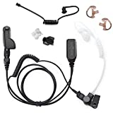 Radio Earpiece for Motorola APX Series, EP1334QR-PTT Quick Release Hawk Lapel Mic, Police Surveillance Headset, Includes Exclusive Accessory Pack