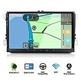 YUNTX Android 9.0 Autoradio Compatible avec VW Passat/Golf/Skoda/Seat - GPS 2 Din - Caméra arrière et Canbus GRATUITES - 9 Pouce - Soutien Dab+ / Commande au Volant / 4G / WiFi/Bluetooth/Mirrorlink