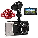 Auto Kamera, JC Beauty Dashcam 2 Lens FULL HD 1080P DVR mit 170° Weitwinkel, 4.0' IPS Nachtsicht,...