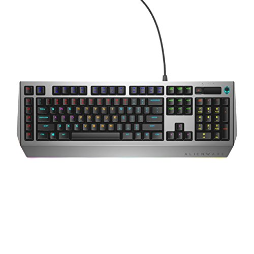 Dell Alienware Pro Gaming Mechanical Keyboard AW768 - AlienFX 16.8M RGB 13 Zone-Based Lighting - 15 programmable Macro Key Functions