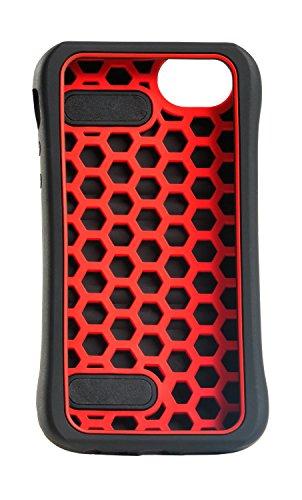JBL Yurbuds by Race Silikon Schutzhülle mit Trageriehmen für Apple iPhone 5 rot/schwarz