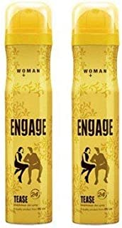 Engage Women's Bodylicious Deodorant Spray-Tease (165ml)-Pack of 2