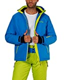 Fifty Five Skijacke Herren Blau Grün L Jamie Snowboardjacke Wasserdicht Atmungsaktiv