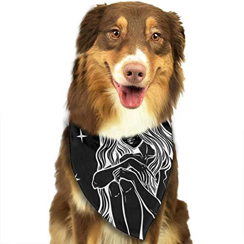 Pañuelo para la Cabeza de Perro con diseño de Personajes misteriosos de Cuentos de Hadas Personalizados, de Colores Brillantes, para Perros