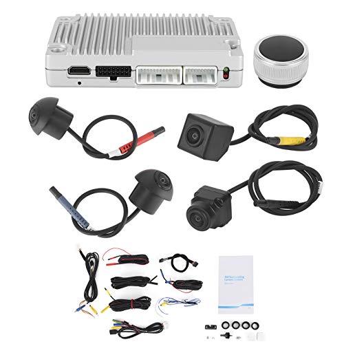 Sistema universal de vista de pájaro circundante de 360 grados Vista panorámica Monitor de estacionamiento de respaldo Grabador de video con 4 cámaras