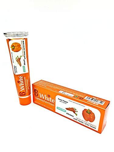 Crème éclaircissante soin visage - B WHITE Piment Doux avec Carotte - 50 g - Anti Tache - Lightening Face Cream - Sweet Pepper with Carrot