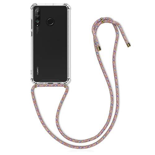 kwmobile Hülle kompatibel mit Huawei P30 Lite - mit Kordel zum Umhängen - Silikon Handy Schutzhülle Mehrfarbig