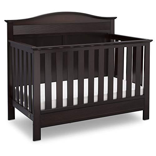 Serta Barrett 4-in-1 Convertible Baby Crib, Dark Chocolate
