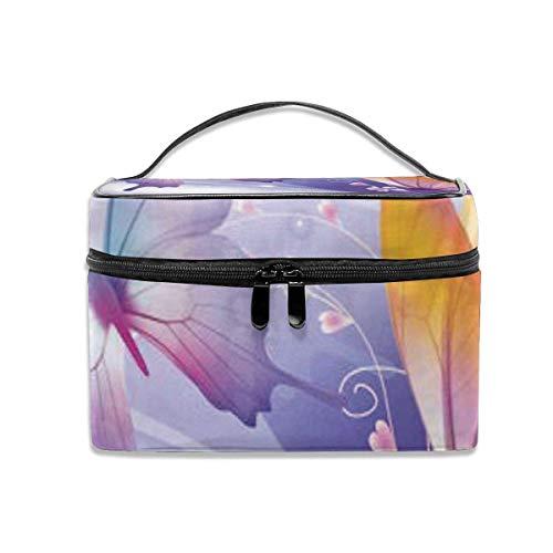 Beaux Papillons voyagent Le Sac de Rangement portatif d'artiste d'organisateur cosmétique, Sacs de Toilette multifonctionnels