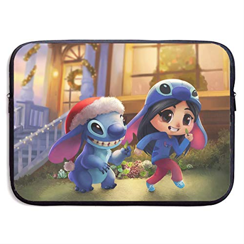 Hdadwy Cartoon Stitch Lilo Laptop Sleeve Bag 15 Inch Tablet Briefcase Ultra Portable Protective, Laptop Canvas Cover MacBook Air, MacBook Pro, Notebook Computer Sleeve Case