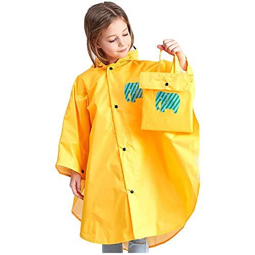 Moent Chubasquero para niños abrigos y chaqueta, ropa de lluvia para niños con dibujos animados 3D para niños y niñas, para Pascua, ropa de lluvia para niños, regalos para festivales (amarillo, 10