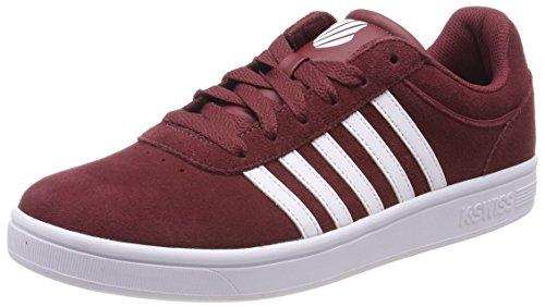 K-Swiss Herren Court Cheswick SDE Sneaker, Rot (Oxblood/White), 39.5 EU