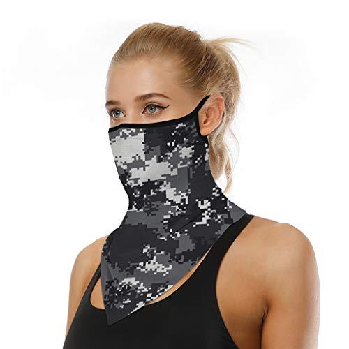 riou Face Shield Multifunktionstuch Motorrad Mundschutz Halstuch Bandana Schlauchschal für Damen Herren (Y)