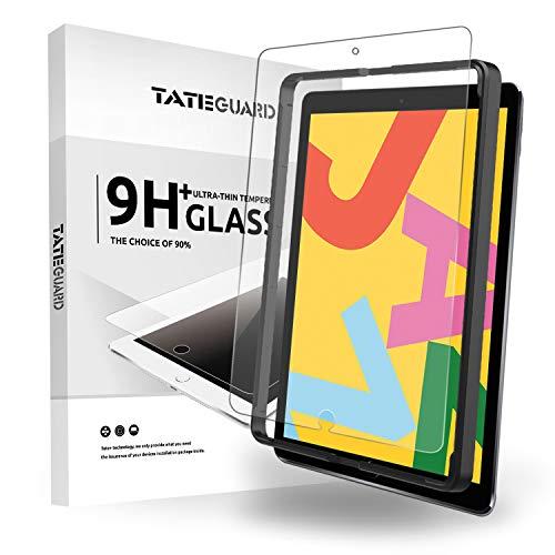 TATE GUARD kompatibel mit panzerglas Matt Cover speziell für iPad 10.2 2019 mit [Install Tool],Anti-Glare-Displayschutzfolie mit Anti-Reflection/Anti-Fingerprint/Anti-Scratch-kompatible iPad 10.2