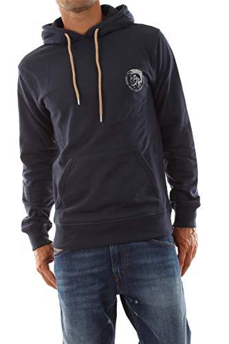 Diesel Herren Brandon Hooded Sweatshirt Pyjama-Oberteil (Top), Dunkel/Blau, Mittel