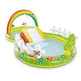 GWHW Piscina remando con la diapositiva, castillos animosos inflables del centro del juego del tobogán acuático para los niños 290x180x104cm
