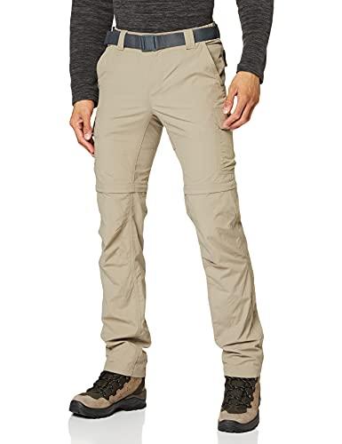 Columbia Silver Ridge II Pantalones de Senderismo Convertibles, Hombre, Tusk, 32 30