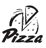 YAZCC Applique Vinyl Selbstklebende Pizza DIY Vinyl