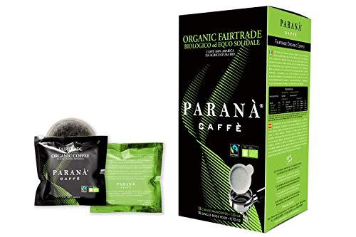 Café Paranà - 18 Cápsulas Monodosis compatibles con máquinas espresso E.S.E. 44 mm ORGANIC FAIRTRADE