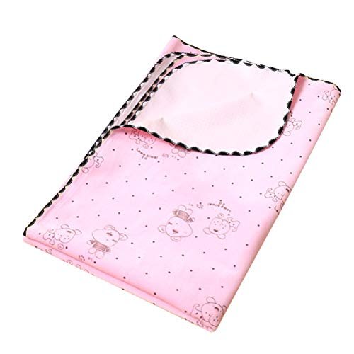 Balacoo Washable Dog Pee Pads Reusable Puppy Training Pads Waterproof Fast Absorbing for Bed Wetting Mattress Protection (Pink)
