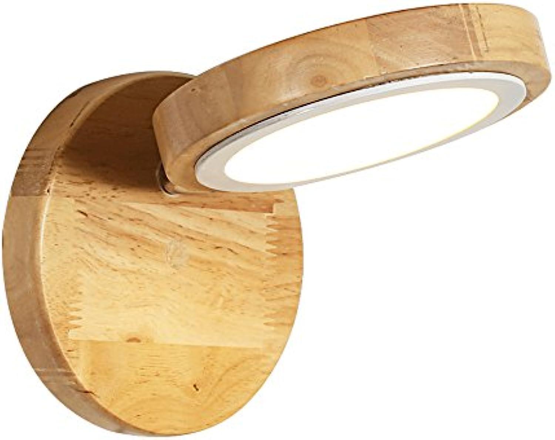 Nordic Einfachheit LED Energiesparende Holz Wandleuchte Einstellbare Winkel Wandleuchte Schlafzimmer Kopfteil Flur Balkon Wandleuchte