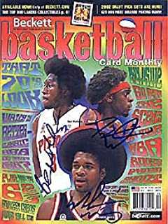 Ben Wallace Darius Miles & Moochie Norris Autographed Signed Autograph Beckett Card Monthly