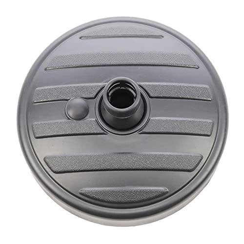 Su-xuri - Pie de sombrilla redondo desmontable, base de sombrilla de plástico de forma redonda, resistente a los rayos UV, relleno de arena/agua, jardín, patio, sombrilla para sombrilla de 35 a 38 mm