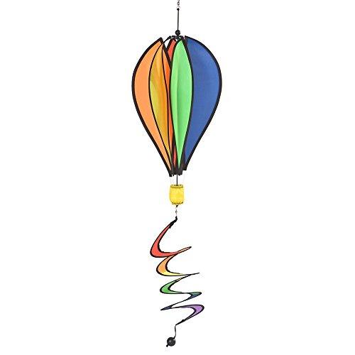 RHOMBUS 911837 Weervlag Hot Air Ballon Rainbow, meerkleurig, 30 x 43 x 50 cm