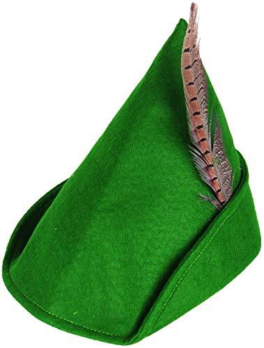 Donna Uomo Verde Tessuto Robin Hood Medievale Arciere Tv Libro Film Festival Carnevale Costume Vestito Cappello