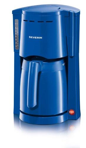 Severin KA 4118 koffiezetapparaat tot 8 kopjes met 2 thermokan, blauw