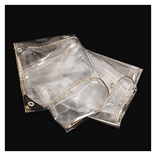 AGLZWY Clear Waterproof Cover Tarp, Anti-Aging Dustproof Rainproof Tarpaulin Furniture Covers for Garden (Color : Clear, Size : 0.9x4.9m)