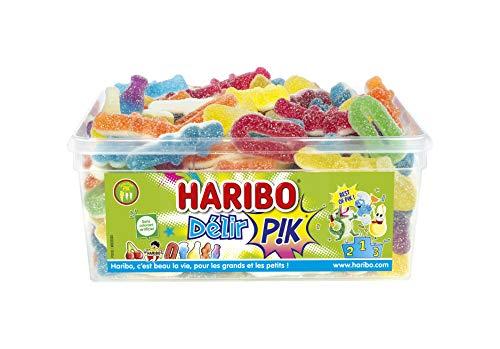 HARIBO Délir Pik Assortiment de Bonbons Acidulés Boîte de 850 g 1 Unité