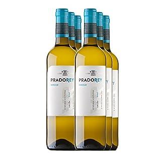 PRADOREY-Verdejo-Weisswein-Spanischer-Wein-Rueda-100-Verdejo-Weinlese-in-der-Nacht-Vorlaufwein-3-Monate-Ausbau-auf-der-Feinhefe-6-Flaschen-075-L