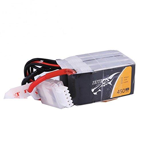 TATTU Batería de polímero de litio 450 mAh 14,8 V 75C 4S1P con XT30