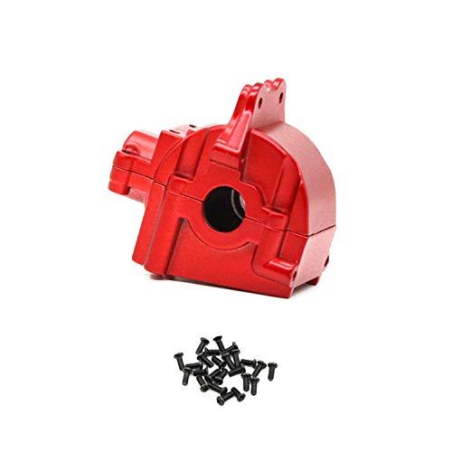 Ellenbogenorthese-LQ Caja de engranajes RC Metal Wave Box Shell cubierta diferencial 144001-1254 para 144001 1/14 RC piezas de coche, rojo 1 unids