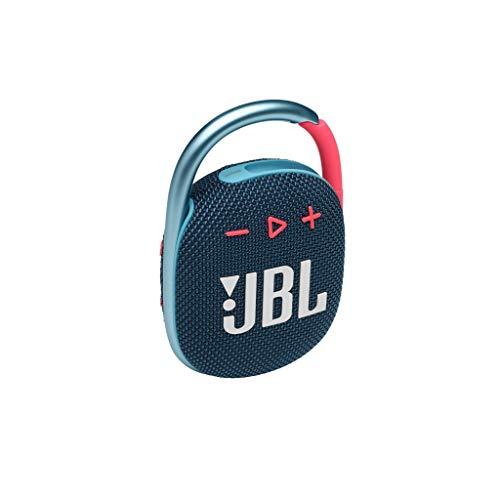 JBL CLIP 4 Bluetooth Lautsprecher in Blau-Pink - Wasserdichte, tragbare Musikbox mit praktischem Karabiner - Bis zu 10 Stunden kabelloses Musik Streaming