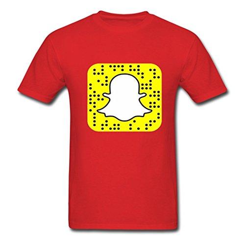 Snapchat Snapcode Logo KingDeng Herren T-Shirt Large