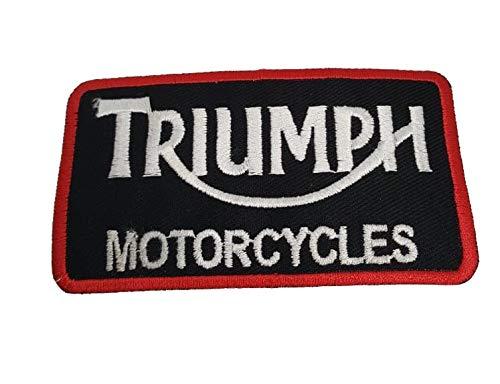 Triumph Rectangle - Parche bordado para motocicleta/motociclista