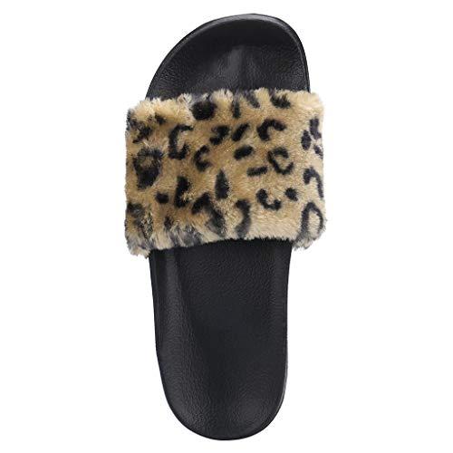 Fannyfuny_Zapatos de Verano Sandalias Mujer Cuña Sandalias de Verano Zapatillas de Estar por casa Sandalias y Chancletas de Plataforma de Impresion de Leopardo de Playa Zapatos de Verano Flip Flops