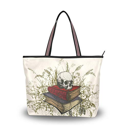 Ahomy - Bolso bandolera con diseño de calavera en la Occulta para llevar al aire libre, gimnasio, senderismo, picnic, viajes, playa, color Multicolor, talla L