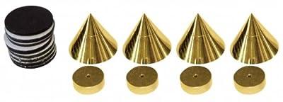Dynavox Sub Watt Absorber Set of 4 Brass by VS Electronic Vertriebs GmbH