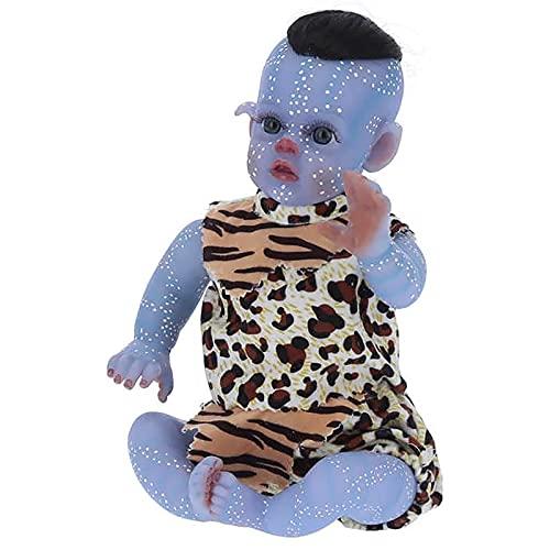 Silicona Suave Muñeca Bebé, 33 cm Hecho a Mano Las Extremidades Pueden Moverse Reborn Muñecas de Bebé para Niños Mayores de 3 Años Juguete