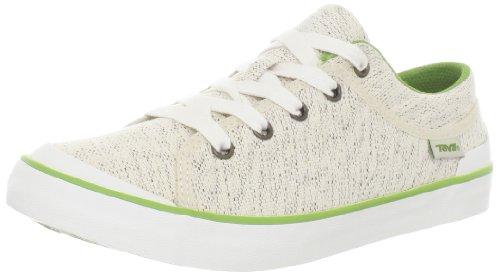 Teva Freewheel Canvas 8723, Damen Sneaker, Weiß (Whitecap Grey 978), EU 40.5 (UK 8) (US 9.5)