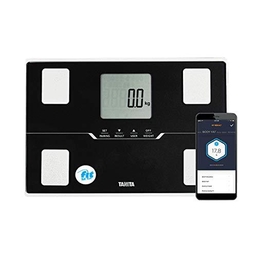 Fit for Fun Körperfettwaage BC-401 – von Tanita, Digitale Körperanalysewaage, Messung von Körperfett & Muskelmasse, Smartwaage zur Körperanalyse, Personenwaage, kompatibel mit div. Health Apps