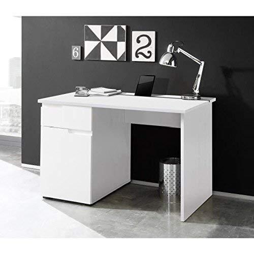 Stella Trading Spice Schreibtisch, Holzdekor, Weiß, ca. 120 x 76 x 67 cm